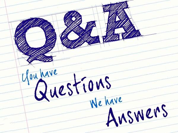 質問 Q&Aの文字のイラスト画像